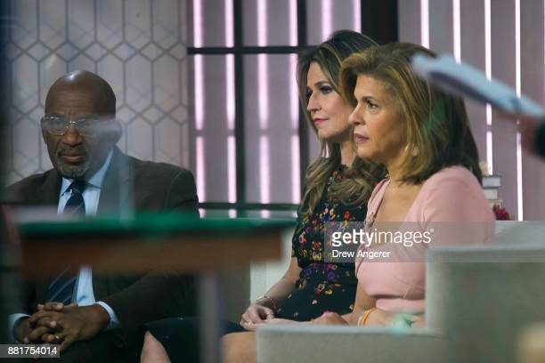 Al Roker Savannah Guthrie and Hoda Kotb prepare for segment on the set of NBC's Today Show November 29 2017 in New York City It was announced on...