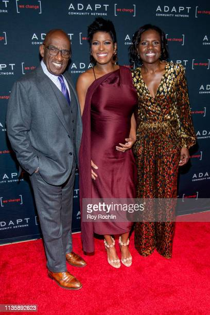 Al Roker Tamron Hall and Deborah Roberts attend the 2019 Adapt Leadership Awards at Cipriani 42nd Street on March 14 2019 in New York City