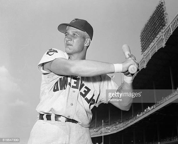 Al Rosen of the Cleveland Indians who has been hitting so well in recent games gives credit for it to the adhesive tape you see on his wrists here...