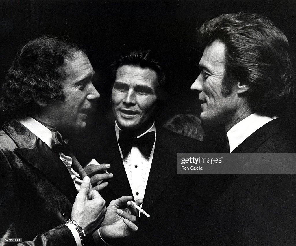 Al Ruddy, James Brolin, and Clint Eastwood in Los Angeles, California