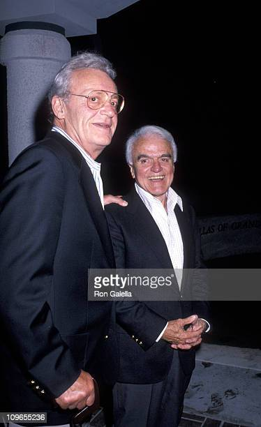 Al Rush and Jack Valenti during Universal Studios Private Party at the Grand Cypress Resort - June 6, 1990 at Grand Cyprus Resort in Orlando,...