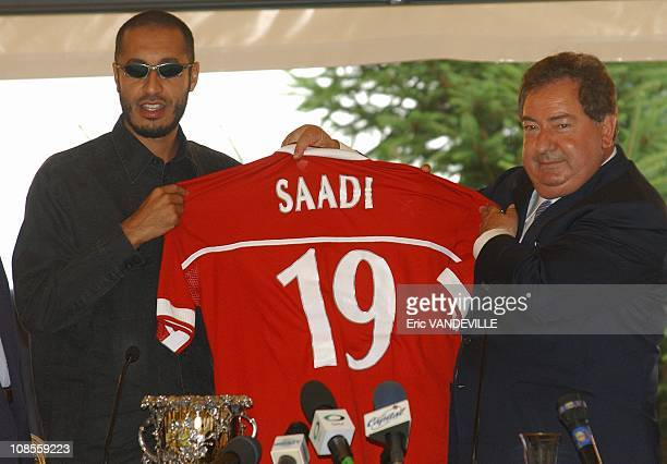 Al Saadi Gaddafi who is captain of his nation's soccer team has signed a two year contract with this Italian serie A side soccer club Right Perugia's...