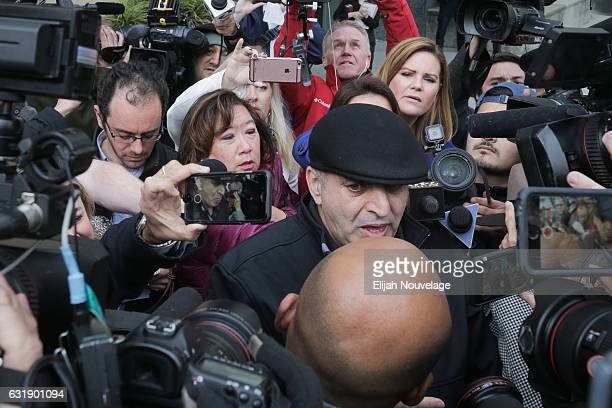 Al Salman speaks to the press following a court appearance by his niece Noor Salman on January 17 2017 in Oakland California Noor Salman was charged...