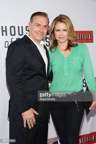 Al Sapienza and Laurie Fortier arrive at the Netflix's House Of Cards for your consideration QA event at Leonard H Goldenson Theatre on April 25 2013...