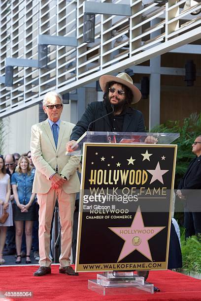 Al Schmitt stands by as music producer Don Was speaks at the ceremony to honor Al Schmitt with a Star on the Hollywood Walk Of Fame on August 13 2015...