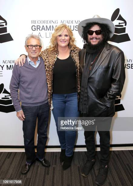 Al Schmitt Trisha Yearwood and Don Was attend The Drop at Trisha Yearwood With Don Was Al Schmitt at the GRAMMY Museum on January 08 2019 in Los...