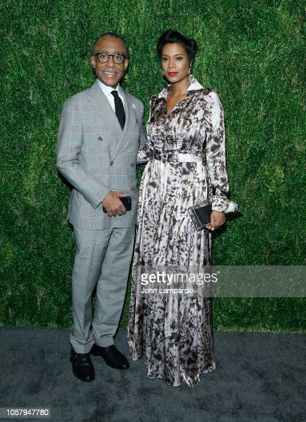 Al Sharpton and Aisha McShaw attend FDA / Vogue Fashion Fund 15th Anniversary event at Brooklyn Navy Yard on November 5 2018 in Brooklyn New York