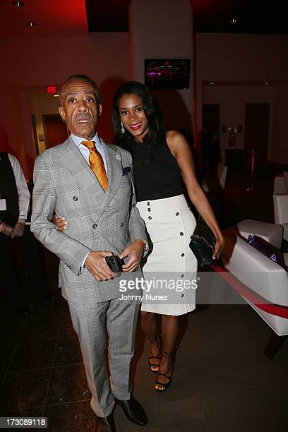 Al Sharpton and Aisha McShaw attend the 2013 Essence Festival at the MercedesBenz Superdome on July 6 2013 in New Orleans Louisiana