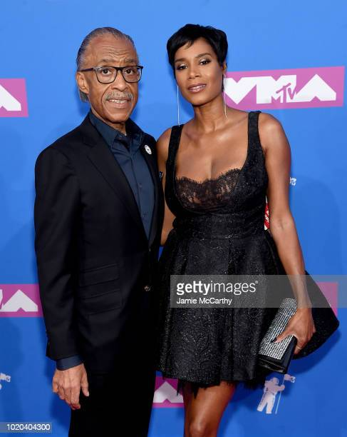 Al Sharpton and Aisha McShaw attend the 2018 MTV Video Music Awards at Radio City Music Hall on August 20 2018 in New York City