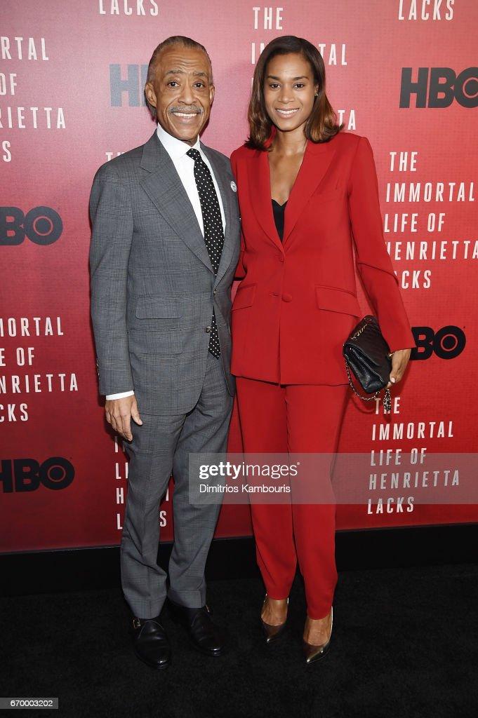 Al Sharpton and Aisha McShaw attend 'The Immortal Life of Henrietta Lacks' premiere at SVA Theater on April 18, 2017 in New York City.