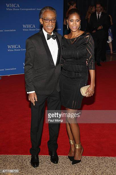Al Sharpton and Aisha McShaw attend the101st Annual White House Correspondents' Association Dinner at the Washington Hilton on April 25 2015 in...