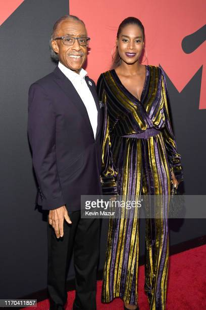 Al Sharpton and Aisha McShaw during the 2019 MTV Video Music Awards at Prudential Center on August 26 2019 in Newark New Jersey