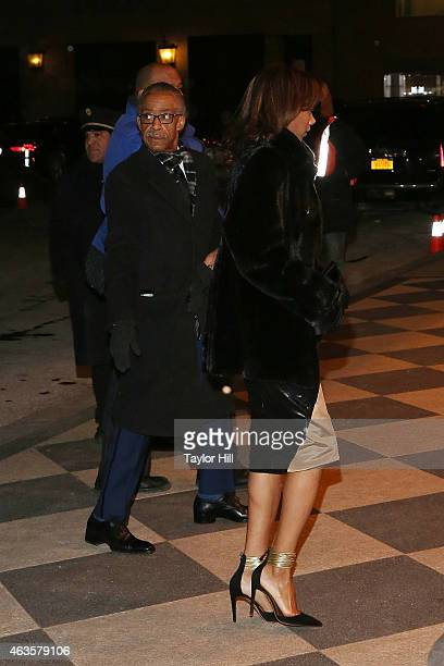 Al Sharpton and date attend the Saturday Night Live 40th Anniversary Celebration After Party at The Plaza Hotel on February 15 2015 in New York City