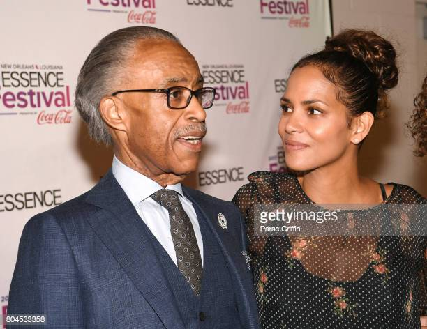 Al Sharpton and Halle Berry pose backstage at the 2017 ESSENCE Festival presented by CocaCola at Ernest N Morial Convention Center on June 30 2017 in...