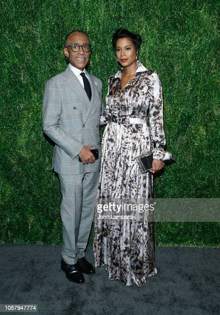 Al Sharpton and Kathy Jordan attend FDA / Vogue Fashion Fund 15th Anniversary event at Brooklyn Navy Yard on November 5 2018 in Brooklyn New York