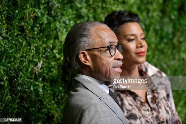 Al Sharpton and Kathy Jordan attend the CFDA / Vogue Fashion Fund 15th Anniversary Event at Brooklyn Navy Yard on November 5 2018 in Brooklyn New York