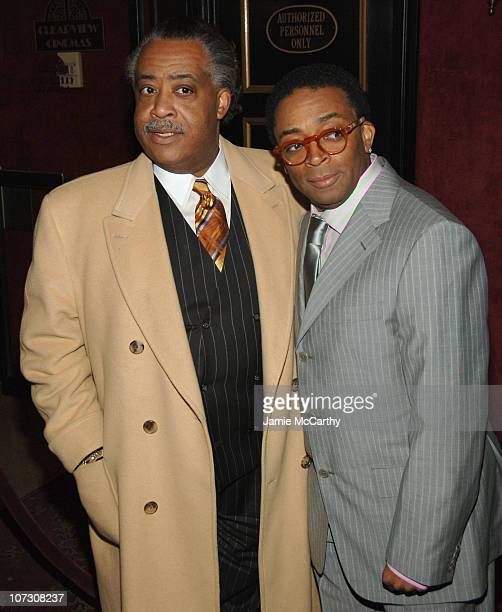 Al Sharpton and Spike Lee during Inside Man New York City Premiere Inside Arrivals at Ziegfeld Theater in New York City New York United States