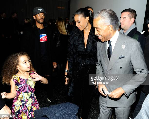 Al Sharpton attends The Cinema Society with Ravage Wines Synchrony host a screening of Marvel Studios' 'Black Panther' at The Museum of Modern Art on...