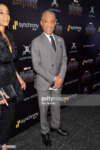 Al Sharpton attends the screening of Marvel Studios' 'Black Panther' hosted by The Cinema Society on February 13 2018 in New York City