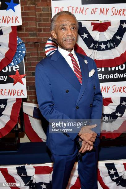 Al Sharpton attends 'The Terms Of My Surrender' Broadway Opening Night at Belasco Theatre on August 10 2017 in New York City