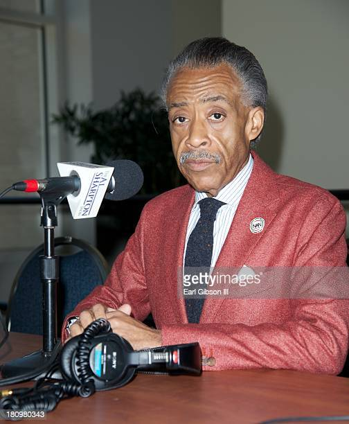 Al Sharpton broadcasts live on Day 1 of the 43rd Annual Legislative Conference on September 18 2013 in Washington DC