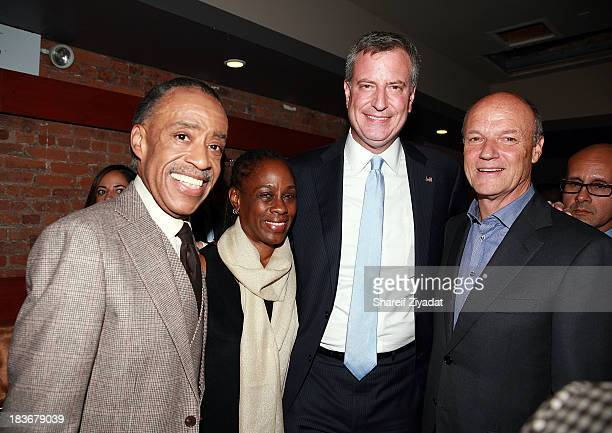 Al Sharpton Chirlane McCray Bill de Blasio and Phil Griffin attend the after party for Reverend Al Sharpton's book signing Rejected Stone Al Sharpton...