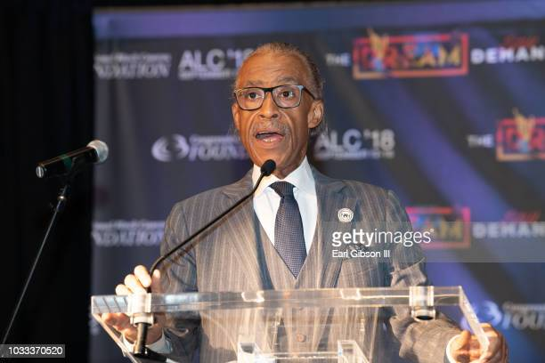 Al Sharpton is honored at the CBCF Chair and Board of Director's Reception for the 48th Annual Congressional Black Caucus Foundation on September 14...