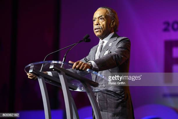 Al Sharpton speaks onstage at the 2017 ESSENCE Festival presented by CocaCola at Ernest N Morial Convention Center on July 1 2017 in New Orleans...