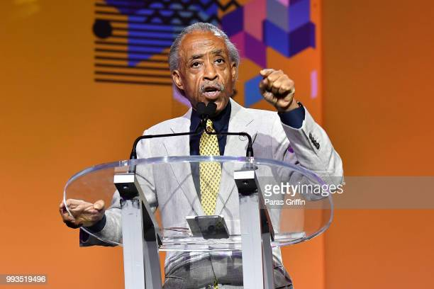 Al Sharpton speaks onstage during the 2018 Essence Festival presented by CocaCola at Ernest N Morial Convention Center on July 7 2018 in New Orleans...
