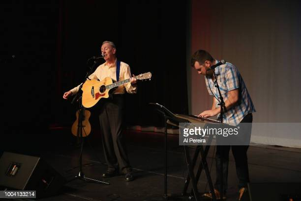 Al Stewart and Josh Solomon perform at The Boulton Center on July 22 2018 in Bay Shore New York