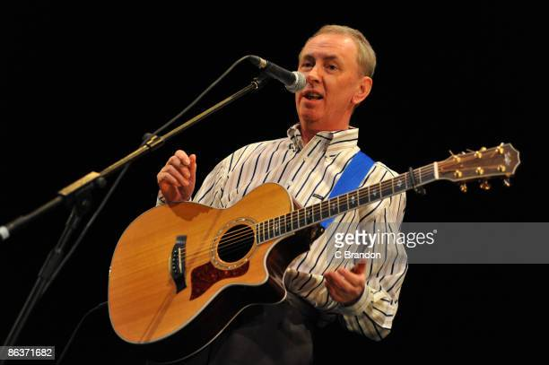 Al Stewart performs on stage at the Lyceum Theatre on May 4 2009 in London England