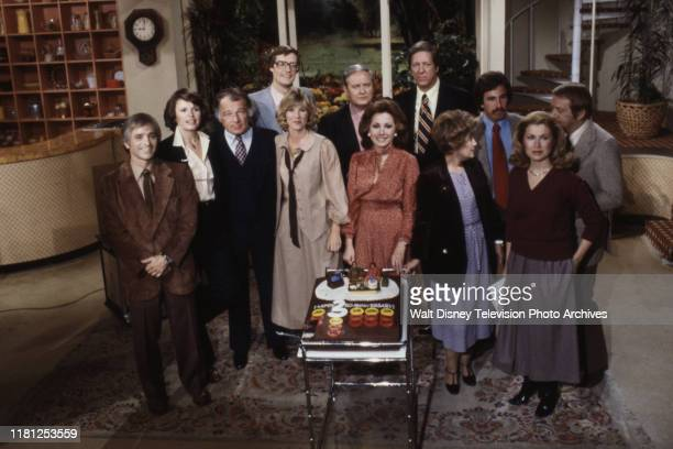 Al Ubell, Sandy Hill, F Lee Bailey, Joan Lunden, Jack Anderson, David Hartman, Erma Bombeck, Pat Collins, John Coleman appearing on ABC's 'Good...