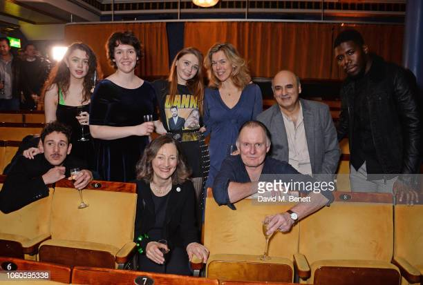 Al Weaver Isis Hainsworth Abbie Finn Brid Brennan Jessica Barden Janie Dee Robert Glenister Peter Polycarpou and Dwane Walcott attend the press night...