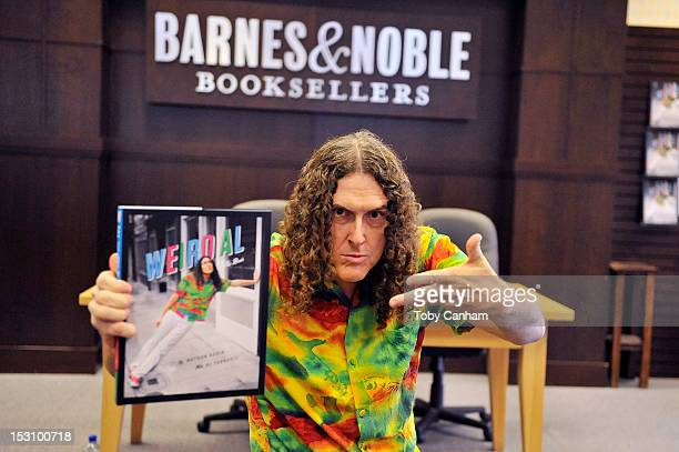 """Al Yankovic attends his book signing of """"Wierd Al: The Book"""" at Barnes & Noble bookstore at The Grove on September 29, 2012 in Los Angeles,..."""