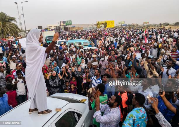 Alaa Salah a Sudanese woman propelled to internet fame earlier this week after clips went viral of her leading powerful protest chants against...
