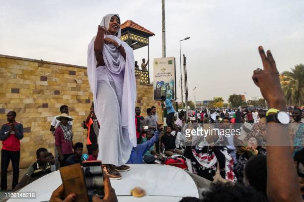 Alaa Salah, a Sudanese woman propelled to internet fame earlier this week after clips went viral of her leading powerful protest chants against...