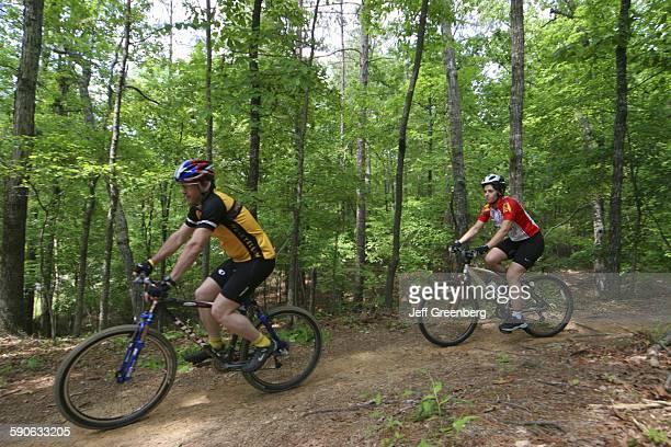 Alabama, Birmingham, Oak Mountain State Park, Mountain Bike Trail.