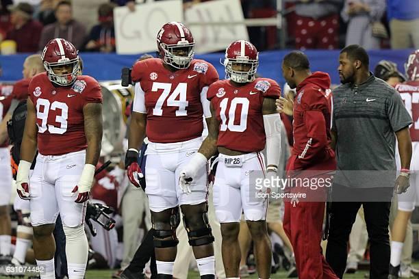 Alabama captains Alabama Crimson Tide defensive lineman Jonathan Allen Alabama Crimson Tide offensive lineman Cam Robinson Alabama Crimson Tide...