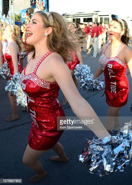 Alabama cheerleader Prior to the CapitalOne Orange Bowl Semifinal game between the Alabama Crimson Tide and the Oklahoma Sooners on December 29 2018...