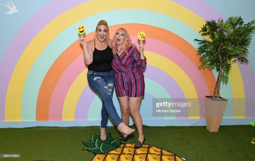 Alabama Collins @alabamavalentine #xeharcury and Jamie Hamilton @jamie_jetaime #xeharcury Xehar Launches #AConfidentYou Curvy Line Competition on June 3, 2017 in Los Angeles, California. Winner gets their own fashion line!