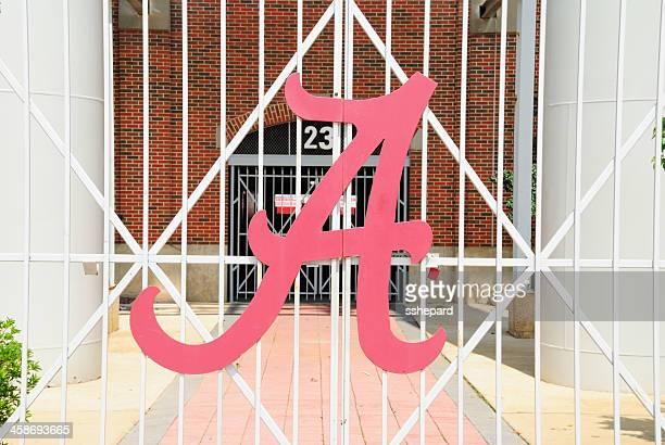 Alabama Crimson Tide A logo on Football Stadium Gate