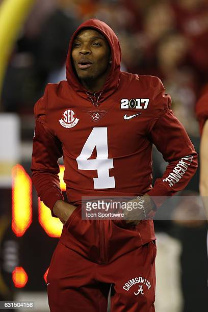 Alabama Crimson Tide defensive back Eddie Jackson before the 2017 College Football National Championship Game between the Clemson Tigers and Alabama...