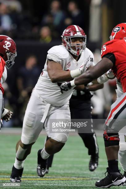 Alabama Crimson Tide defensive lineman Da'Ron Payne during the College Football Playoff National Championship Game between the Alabama Crimson Tide...