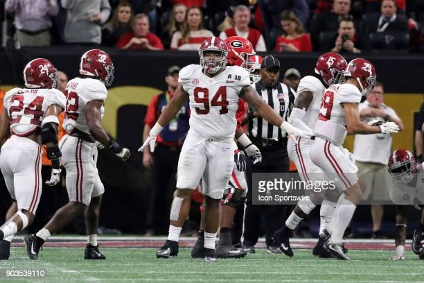 Alabama Crimson Tide defensive lineman Da'Ron Payne during the College Football Playoff National Championship Game between the Alabama Crimson Tide...