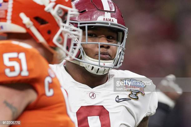 Alabama Crimson Tide defensive lineman Da'Shawn Hand looks on during the College Football Playoff Semifinal at the Allstate Sugar Bowl between the...