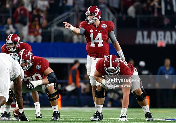 Alabama Crimson Tide quarterback Jake Coker during the NCAA College Football Playoff Semifinal - Cotton Bowl between the Michigan State Spartans and...