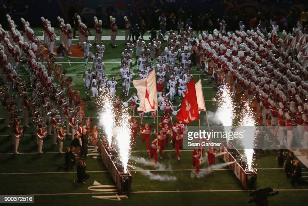 Alabama Crimson Tide takes the field prior to the AllState Sugar Bowl at the MercedesBenz Superdome on January 1 2018 in New Orleans Louisiana