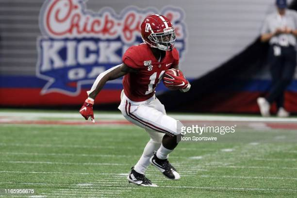 Alabama Crimson Tide wide receiver Henry Ruggs III during the ChickfilA Kickoff Game between the Alabama Crimson Tide and the Duke Blue Devils on...