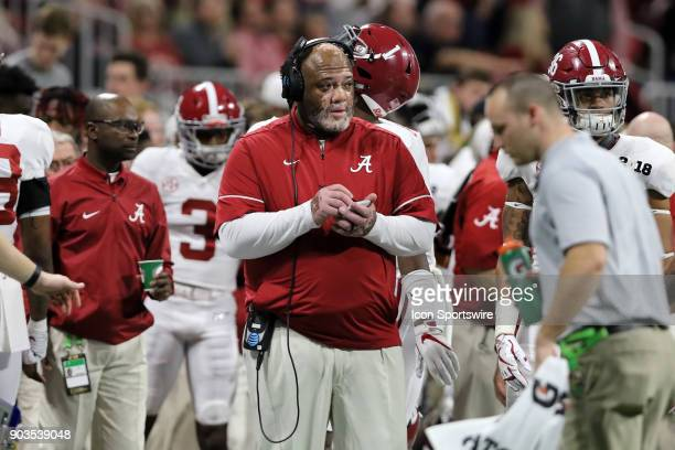 Alabama defensive line coach Karl Dunbar during the College Football Playoff National Championship Game between the Alabama Crimson Tide and the...