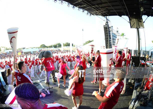 Alabama Fans shear to team Mascot Prior to the CapitalOne Orange Bowl Semifinal game between the Alabama Crimson Tide and the Oklahoma Sooners on...